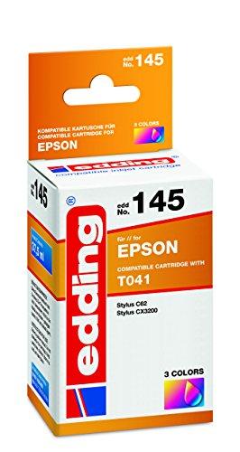 Cx3200 Tintenstrahldrucker (edding 18-145 Druckerpatrone EDD-145,Ersetzt: Epson T041, Einzelpatrone, 3-farbig)