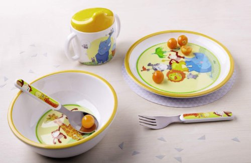 haba-animal-acrobats-tableware-set