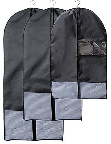 Caeser Archy Housse à vêtements à suspendre Organiseur Sacs pour mieux Vêtements protégé contre la poussière durable respectueux de l'environnement Sac de rangement, noir
