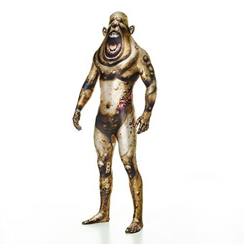Für Skelett Skin Erwachsene Suit Kostüm - Morphsuits MLBOMX - Boil Monster Erwachsene Kostüme XL 5 Zoll 9 - 6 Zoll 1, 180 cm - 186 cm, XL, Multi
