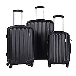 Travel Case ABS Hard Shell 3-part (Black ABS)