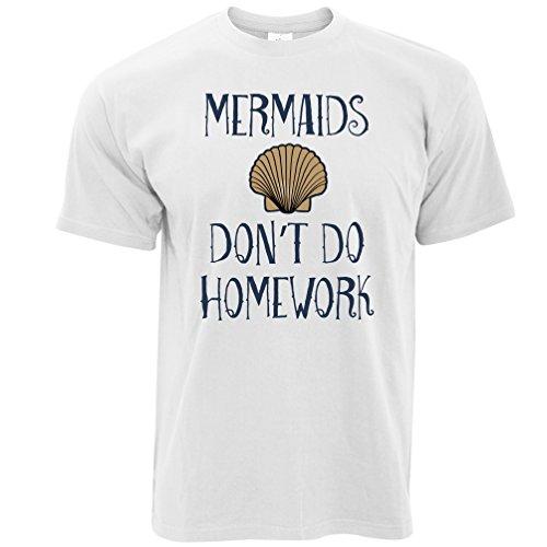 Mermaids Hausaufgaben Kostüm Slogan Schwanz College School nicht tun Herren (Humor Kostüme Lustig College)