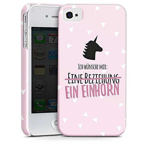 Apple iPhone X Silikon Hülle Case Schutzhülle Statement Einhorn Spruch Premium Case glänzend