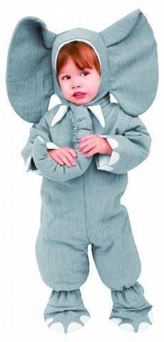 Foxxeo 10206 | Elefantenkostüm für Kleinkinder grau Elefanten Kostüm für Kinder, ()