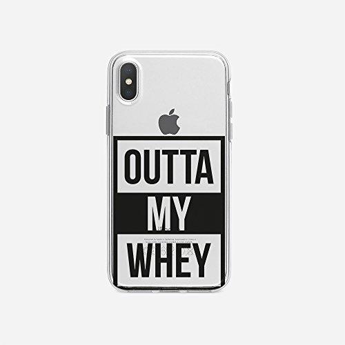 licaso Apple iPhone X Handyhülle Smartphone Apple Case aus TPU mit Outta My Whey Print Motiv Slim Design Transparent Cover Schutz Hülle Protector Soft Aufdruck Lustig Funny Druck