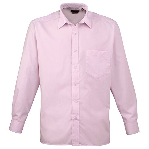 Premier Langarm Popeline-Hemd Pink