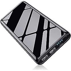 Batterie Externe 25800mAh, Kilponen Power Bank【Design Finition Brillante】Chargeur Portable Haute Capacité avec 2 Ports USB Batterie Externe de Secours Charge Rapide pour Smartphones et Autres Devices