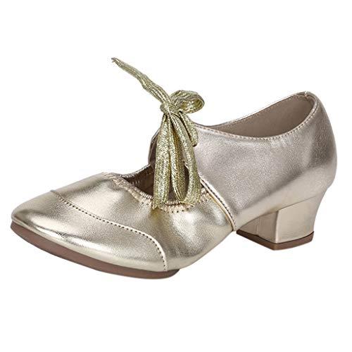 Fannyfuny Zapatos Mujeres Mocasines de Tacón Alto Bailando Rumba Waltz Prom Ballroom Latin Ballet Dance...