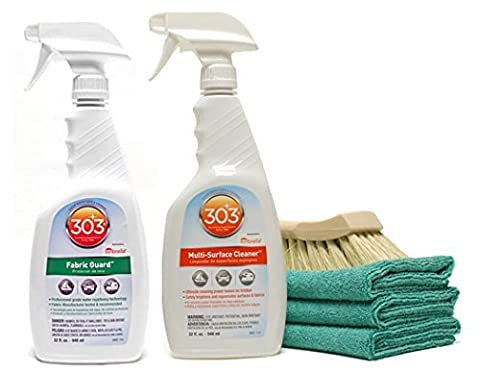 303High Tech Fabric Guard Reiniger für & Combo–Reinigungstuch Cabrio Top, Stoff Polster, Sunbrella (Bimini Vinyl Stoff Top)