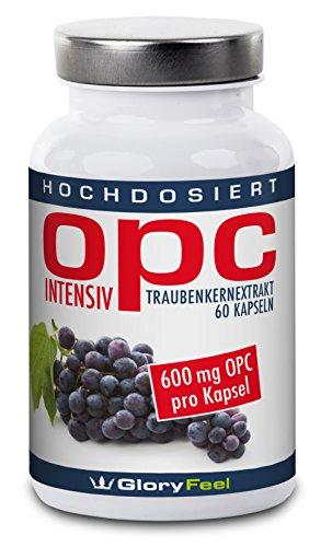 OPC Extrait de Pépins de Raisin Intensivement - La plus élevée Grapeseed Extract de dose - 600 mg OPC + 12 mg Vitamine C par capsules - Deux mois cure - 100% Antioxydant Naturel - Qualité Supérieure