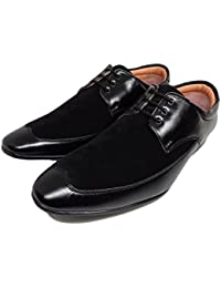 PromartIndia Black Color Leather Casual/Partywear/Formal Multipurpose Shoes For Men's