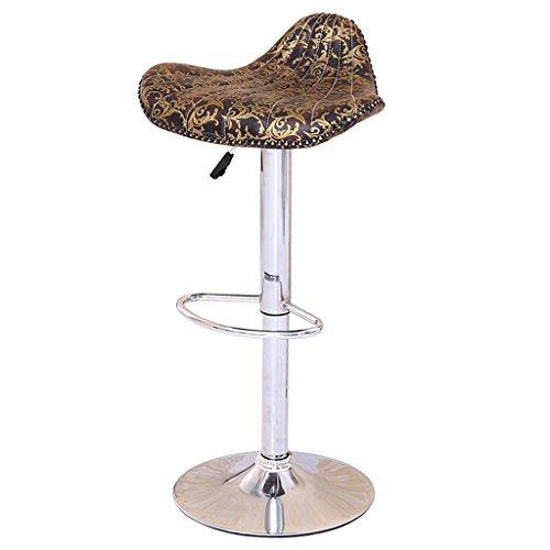 Barhocker Hocker Gas Lift Hochstuhl Continental Vintage Lounge Stuhl Esszimmerstuhl Rezeption Stuhl Muster Shell Hocker mit Fußstütze und verchromten Rahmen - Rezeption Shell