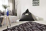 Kayoom LEDERTEPPICH Leder Teppich Muster Creme Elfenbein BRAUN Patchwork 100%, Größe:200cm x 290cm