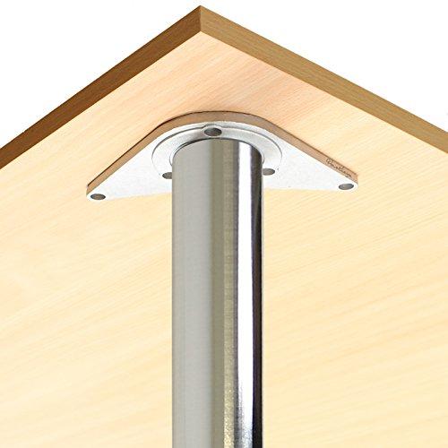 Hartleys höhenverstellbares Tischbeine 870-890 mm - gebürstete Oberfläche - ein Paar
