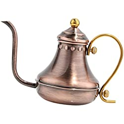 MagiDeal Drei Farbe Teekessel Teekanne kaffeekanne aus Edelstahl 430ml - Antikes Kupfer