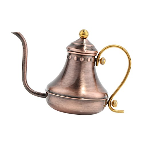 MagiDeal Drei Farbe Teekessel Teekanne kaffeekanne aus Edelstahl 430ml