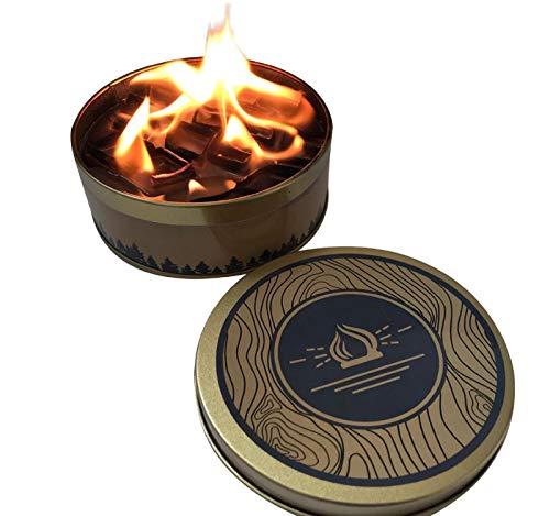 GreatFunFeu de Camp Portable et réutilisable feu Flamme Papier Campfire pièce maîtresse Flamme pour feu de Camp décorations de fête éclairage extérieur feu de Camp