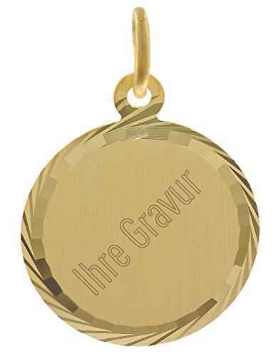 trendor Gold-Anhänger Gravurplatte 35778 - inklusive Wunsch-Gravur