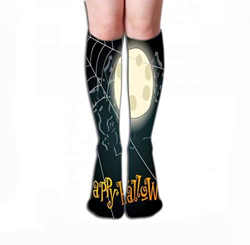 zexuandiy Hohe Socken Women Knee High Socks Novelty Compression Socks 19.7