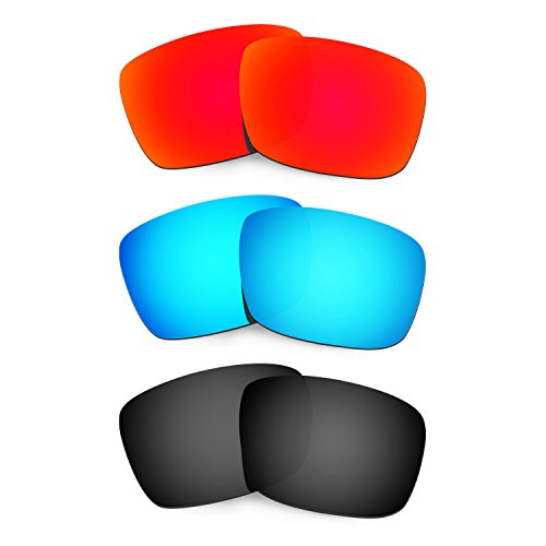 HKUCO Plus Mens Replacement Lenses For Oakley Fuel Cell Sunglasses Red/Blue/Black Polarized