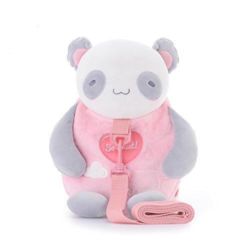 Metoo Kinder Rucksack Kleinkind Tasche Kind Leine - Karikatur Panda Baby Leinen Umhängetaschen mit Anti-verlorene Kleinkind Sicherheitsgeschirre