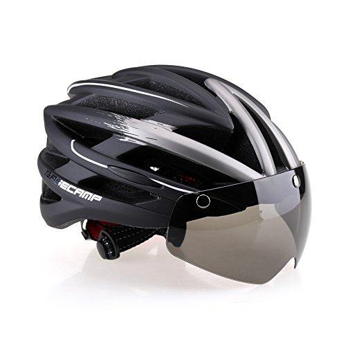 basecamp fahrradhelm mit abnehmbaren schutzbrille visier. Black Bedroom Furniture Sets. Home Design Ideas