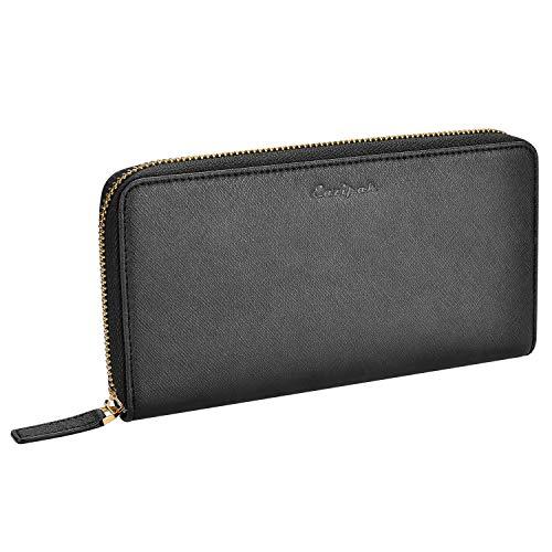 Detail Zip Wallet (Eazipak Portmonee Damen - Geldbörse Damen Zip Wallet Frauen RFID Schutz - groß Kapazität Portemonnaie Geldbeutel - Damenbörse Lang Brieftasche Leder - Geschenk)