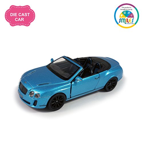 Smiles Creation Kinsmart 1:38 Scale Die Cast Metal 2010 Bentley Continental Super sports Car with Glossy Finishing Exteriors Toys, Blue (5-inch)  available at amazon for Rs.439