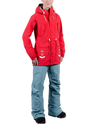 Nitro Damen Snowboard-Jacke Niseko W Jacket 15, Tomato, L, 1151873225 Burton Snowboard Jacke Rot
