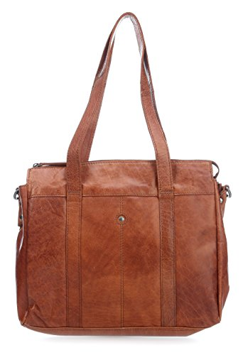 Spikes & Sparrow Bronco Aktentasche Leder 35 cm Laptopfach brandy