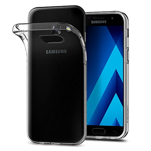 Samsung Galaxy A5 2017 Hülle, Spigen® [Liquid Crystal] Ultra Dünn [Crystal Clear] Transparent Soft-Flex Handyhülle Bumper-Style Premium-TPU Silikon / Durchsichtige Schutzhülle für Samsung Galaxy A5 2017 Case, Samsung Galaxy A5 2017 Cover, Samsung A5 2017 Case, Samsung A5 2017 Cover - Crystal Clear (573CS21144)