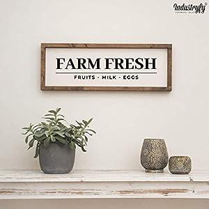 "Farmhouse Design Schild in 60×20 cm""Farm Fresh"" Landhaus Deko Farmhouse Küche"