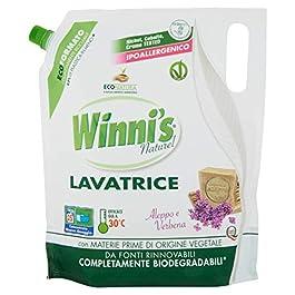 Winni's Naturel Detersivo Lavatrice Ecoformato Aleppo e Verbena 25 Lavaggi – 1346 g
