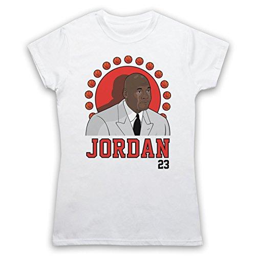 Inspiriert durch Crying Jordan Michael Jordan 23 Basketballer Award Inoffiziell Damen T-Shirt Weis
