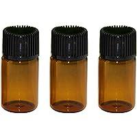 Vococal® 25 Stk 3ml Mini Leeren Nachfüllbar Lotion Massage Atherisches Öl Glas Flaschen mit Blende Reducer, Dunkelbraun preisvergleich bei billige-tabletten.eu