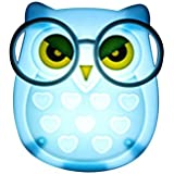 ascension Wall Owl LED Plug in Night Light for Kids (Blue)