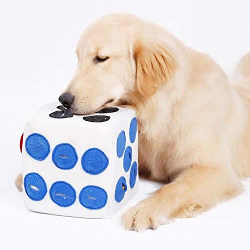 Womdee Dog Puzzle Feeder, natürliches Hundespielzeug, Dog Slow Feeder-Spiel für Langeweile, fördert die natürlichen Futtersuchfähigkeiten - einfach zu füllen - unterhaltsames Design