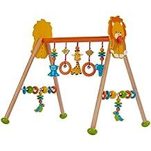 3b9bc8ca665149 solini Spieltrapez Dschungel aus Holz – höhenverstellbares Holztrapez mit  vielen Spielmöglichkeiten   Figuren - ab Geburt