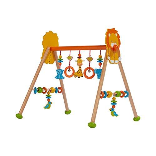 solini Spieltrapez Dschungel aus Holz – höhenverstellbares Holztrapez mit vielen Spielmöglichkeiten & Figuren - ab Geburt geeignet - bunt/Natur