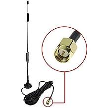 SMA 4G Antena, LTE Antenna Dual 12dBi Alto Ganancia Red Ethernet Al aire libre Antena Receptor Amplificador Booster para Wifi Router Banda Ancha Móvil - antena externa 3M conector SMA