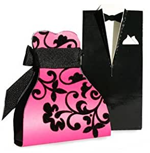Luxury Bella Pink Flocked Bride Favour Box by Unravel A Gift