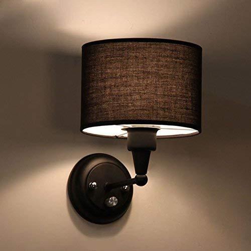 Design Aus Gebürstetem Chrom-finish (NIAI Modernes schwarzes quadratisches Design aus gebürstetem Chrom for die Nachtwandleuchte mit Netzschalter)