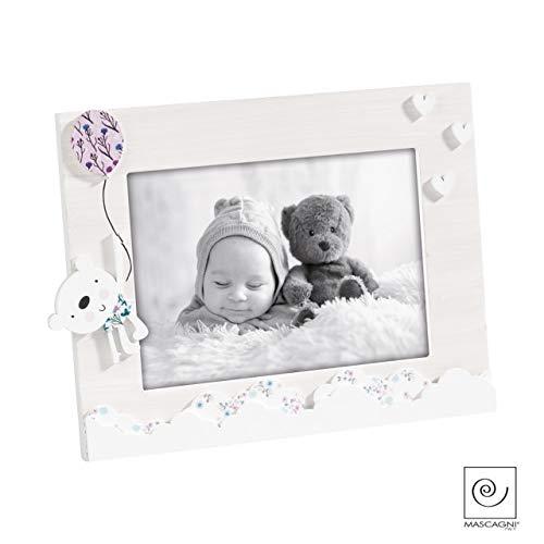 Mascagni casa cornice portafoto orizzontale in legno formato 13x18 con, multicolore, 8003426045725