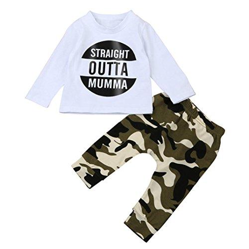 Bekleidung Baby, SOMESUN Baby Jungen T-Shirt Hosen Outfits Kleidet Set (12Monat, (Outfit Minion Für Baby)