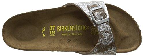 Birkenstock Madrid - Ciabatte Donna Argento (Argent (Birko-Flor Stardust Stone))