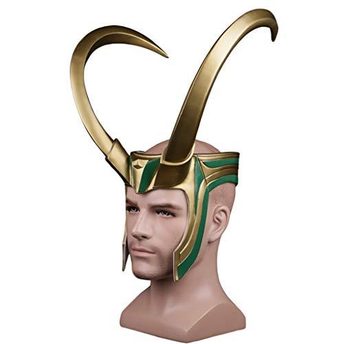 GanSouy Thor: Ragnarök, Loki-Helm, Loki-Maske für Halloween, Kostümpartys, Maskeraden, Mardi Gras, Rave-Feste, Themenpartys, Karneval, Geschenke, Geburtstag und ()