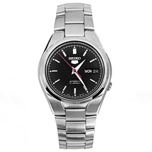 seiko-homme-snk607k1-5-gent-automatique-analogique-cadran-noir-gris-bracelet-acier-inoxydable