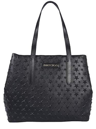 Jimmy Choo Borsa Shopping Donna Sofiamemgblack Pelle Nero
