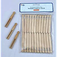 BMC LONDON 24pcs Wooden Dolly Pegs