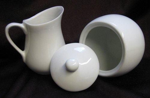 Milch und Zucker SET, Milchkanne, Kännchen, Zuckerdose, Zucker Topf, Kanne (LHS) (Keramik-pfanne-halter)